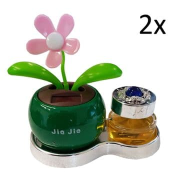 2 x SOLAR POWER DANCING AIR FRESHENER FLOWER car home fragrance perfume caravan